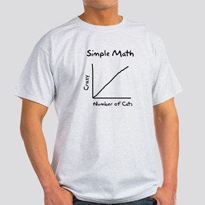 Simple math crazy number of cats Light T-Shirt